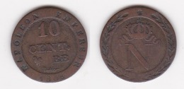 10 CENTIMES NAPOLEON 1er 1808 BB COQ FAUX D´EPOQUE En Billon   (voir Scan) - Francia