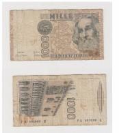 1000 LIRE N° P A  493090  E - 1982 - [ 2] 1946-… : Republiek