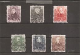 Autriche ( 399/404 X -MH) - 1918-1945 1ère République