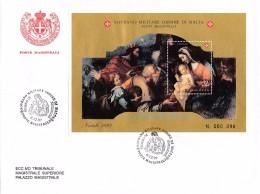 Malta 1997 S.M.O.M . Block FDC ° Natale, Maria Mit Kind. - Christianity