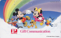 Télécarte Japon DISNEY / 110-814 -  Mickey Minnie Canard Donald Duck - Japan Phonecard / Rainbow - MD 15 - Disney