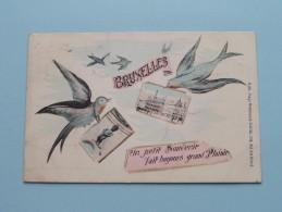 Un Petit Souvenir Fait Toujours Grand Plaisir BRUXELLES ( Weinand-Collin ) Anno 1909 ( Zie Foto Voor Details ) !! - België