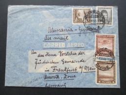 Chile 1949 Luftpost Judaika / Judentum An Den Vorsteher Der Jüdischen Gemeinde In Frankfurt Am Main - Jewish