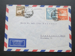 Chile 1952 Luftpost Brief Aus Der Deutschen Botschaft In Santiago - Chile