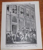 Photogravure. Louis XVI à L´une Des Fenêtres De L´Hôtel De Ville, La Cocarde Nationale Au Chapeau. - Riproduzioni