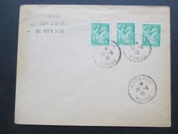 Frankreich Iris 1945 Nr. 659 MeF Umschlag Exposition Fresque De Documents Historiques - 1939-44 Iris