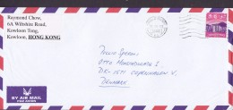 Hong Kong Air Mail Par Avion HONG KONG 2000 Cover Brief Denmark $3.10 Skyline Of Hong Kong Stamp - 1997-... Regione Amministrativa Speciale Della Cina