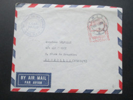 Peru 1958 Luftpost Freistempel. Vuelo Cia Air France. Lima - Paris. Nach Brüssel. Paris Aviation - Peru