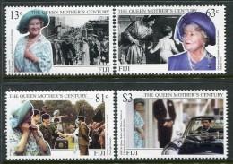 Fiji 1999 Queen Elizabeth The Queen Mother's Century Set MNH - Fiji (1970-...)