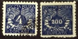 Polen 1919, Poland, Polska, Pologne, Port, Tax, Taxe, SG D93, D146 - Strafport