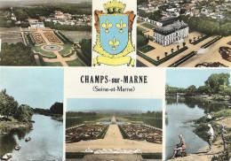 CPM Champs-sur-Marne Vues Multiples - Blason - Andere Gemeenten