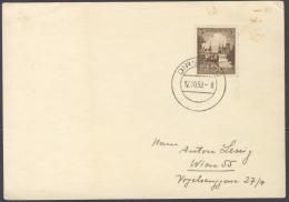 P256 DR Postkarte 1939 Mit EF Mi. 665 3 Pf. U. Handstempel Dirschau Pommern Nach Wien Echt Gelaufen 17.10.1939 - Briefe U. Dokumente