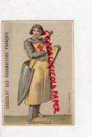 CHROMO -CHOCOLAT DES PHARMACIENS FRANCAIS-PHARMACIE- SIRE DE JOINVILLE- HISTORIEN -CROISE CROIX ROUGE - Chocolate
