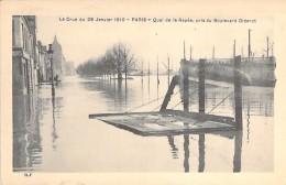 PARIS ( 12 ° ) - INONDATIONS DE 1910 - Crue De La Seine : Quai De La Rapée Pris Du Boulevard Diderot - CPA - Seine - Inondations De 1910