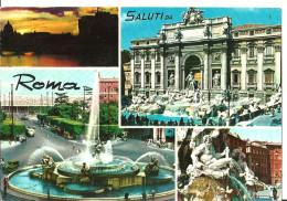 Roma (Lazio) Vedute Fontana Di Trevi, Piazza Dell'Esedra, Piazza Navona, Views, Vues, Ansichten - Panoramic Views