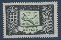 MONACO PA 1949   Avion Et Armoiries  500FR  N° YT PA 43 ** MNH - Poste Aérienne