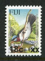 Fiji 2006-13 Birds Surcharges - 18c On 6c Blue-headed Flycatcher MNH - Fiji (1970-...)