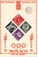 JO - 1952 Monaco Oblitéré PA 51/54