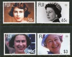 Fiji 2006 80th Birthday Of Queen Elizabeth II Set MNH - Fiji (1970-...)
