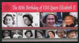 Fiji 2006 80th Birthday Of Queen Elizabeth II MS MNH - Fiji (1970-...)