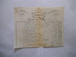 AVESNES DUBOIS-VIROUX LIBRAIRIE ANCIENNE ET MODERNE LITHOGRAPHIE FACTURE DU 30 7bre 1855 - 1800 – 1899