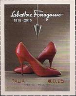 2015 Italien Mi. 3869 **MNH   100 Jahre Schuhmarke Salvatore Ferragamo. - 6. 1946-.. República