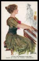 """INGLATERRA - ILUSTRADORES -«Artur Betcher»""""je Rêve à Toi Tendrement Et Sans Cesse""""(Ed. Song Series Nº1236) Carte Postale - Illustrateurs & Photographes"""