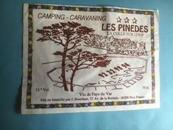 1198 -  Camping - Caravaning Les Pinèdes La Colle Sur Loup Vin De Pays Du Var - Rouges