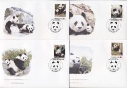 Papua New Guinea 2012 - Cover: FDC - Giantpanda, WWF - W.W.F.