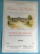 1066 -  Château Les Cailloux  1989 Còtes De Bourg - Bordeaux