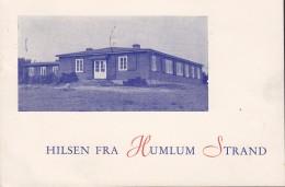 Denmark PPC Hilsen Fra HUMLUM STRAND, HOLSTEBRO 1959 Frederik IX. Stamp (2 Scans) - Denmark