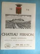 1068 -  Château Fernon 1974 Graves Supérieures - Bordeaux