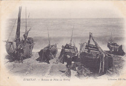 76 - Etretat - Bateaux De Pêche Au Perrey (animée) - Etretat
