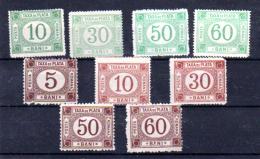Taxe, Entre 2 Et 6**( Sans Gomme), Cote 86 €, - Port Dû (Taxe)