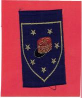INSIGNE ARMEE FRANCAISE D ARMISTICE 1940 1944 KEPI DU MARECHAL VICHY INSIGNE VERITABLE D EPOQUE EN SOIE TISSEE - Patches