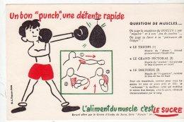Juil16    75634     Buvard  L'aliment Du  Muscle C'est Le Sucre   Un Boxeur - Sports