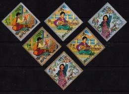 Bhutan, (Sc # 90-90E), MNH, (Set Of 6)  (1967)  Girl Scouts  (1967) - Bhutan
