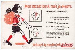Juil16    75633     Buvard  L´aliment Du  Muscle C´est Le Sucre   Un Marcheur - Sports