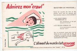 Juil16    75632     Buvard  L´aliment Du  Muscle C´est Le Sucre   Un Nageur - Sports