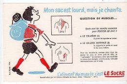 Juil16    75631     Buvard  L´aliment Du  Muscle C´est Le Sucre   Un Marcheur - Sport