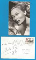 (A232) Signature / Dédicace / Autographe Original De Michèle Morgan - Actrice + Carte Photo - Autographes