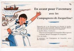 Juil16    75628     Buvard  L'aventure  Un Scooter Et Bateau - Sports