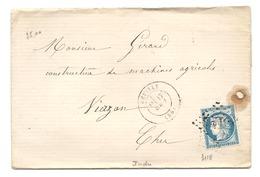 Indre - Reuilly Pour Vierzon - GC 3118 + CàD Type 17 - Marcophilie (Lettres)