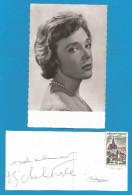 (A241) Signature / Dédicace / Autographe Original De Micheline Presle , Actrice + Carte Photo - Autographes