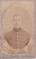 Photo CDV Deutscher Soldat  -  Atelier Braschoss, Cöln-Neustadt - Ca. 1900  (23849) - Krieg, Militär