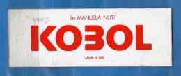 Adesivo Pubblicitario -  KOBOL - By Manuela Nuti.  Cm.  14 X 5.    Vedi Descrizione - Adesivi