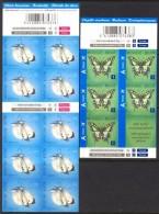 VBelgium**BUTTERFLIES-2 Booklets 10vals-Cabbage White/Swallowtail-2012-Mariposas-Papillons-Schmetterlinge-Farfalle-Vlind - Belgium