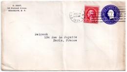 Entier Postau Des Etats-unis Pour La France (1934)