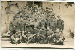 - Carte Photo, Privas , Soldats Du 61 éme Régiment D'Infanterie, 15 éme CA, Rare, BE, Scans. - Reggimenti
