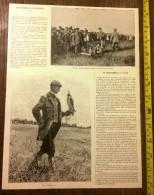 DOCUMENT ANNEE 1900 UN CONCOURS DE FAUCONNERIE A SPA BELGIQUE ARBEL JACK FROST - Old Paper